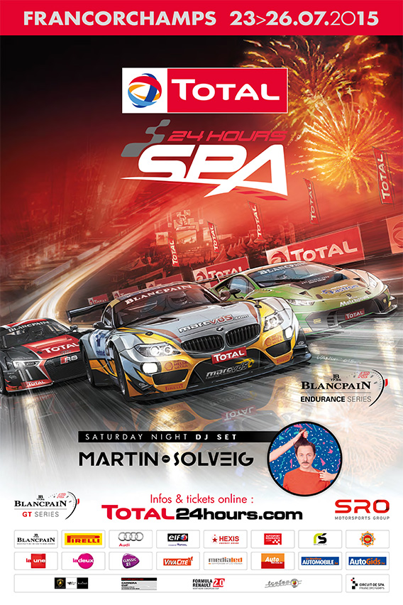posters from the total 24 hours of spa